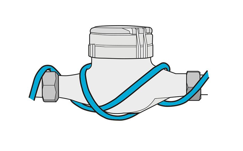 Zaščita števca za vodo pred zmrzaljo